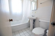 Clean bathrooms with lots of light
